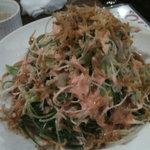 魚屋はちまき - 九条ねぎとジャコの明太サラダ