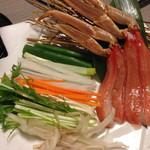 かに道楽 - 料理写真:カニしゃぶ(≧∇≦)