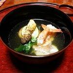 旬の幸 花○ - コース料理のお椀