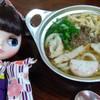 アサヒ - 料理写真:鍋焼きうどん¥550 とにかく甘いぞなもし。 我が子マドンナがレポートです^^