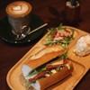きりは inn & cafe - 料理写真:ローストベジサンドイッチ、700円。(ラテ別売り)