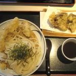 51964514 - とり天ざる、舞茸の天ぷら