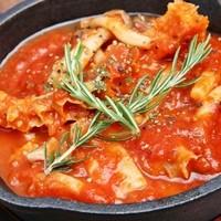 トリッパときのこのトマト煮