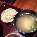 九州 熱中屋 - 小鉢・味噌汁