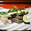 和しょく えびはら - 料理写真:焼き物 稚鮎 ヤングコーン