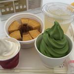 北菓楼  - バウムクーヘンセット(515円)+抹茶ソフト
