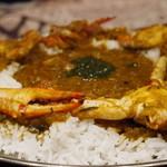 ナタラジャ - 南インド風カニのカレー+ライス