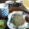 甘酒茶屋 - 料理写真:力餅(くろごまきなこ)& 甘酒