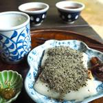 甘酒茶屋 - 力餅(くろごまきなこ)& 甘酒