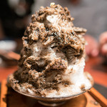 よろにく - 2016.6 焙じ茶と丹波黒豆のカキ氷