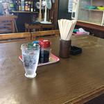 ぼりゅうむ食堂 - 卓上の様子