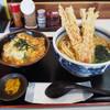 麺くい やまちゃん - 料理写真:   はいからうどん&ミニ玉子丼セット プラス大好物のちくわ天トッピング