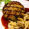 フォルクス - 料理写真:ビーフ100%網焼きハンバーグ赤ワインソース
