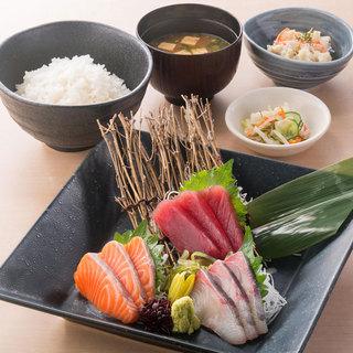 北の味紀行と地酒 北海道 - 刺身定食