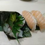 魚がし日本一 - トロたく(200円)&トロサーモン(75円×2)
