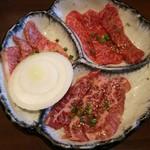 52103576 - お好み定食A(カルビ・ロース・ハラミ)¥1590(H28.5.17撮影)