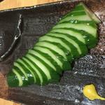 いろどり - 胡瓜の一本漬け