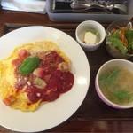 あめいろcafe - トマトチーズオムライス