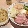 らーめん鱗 - 料理写真:辛和え麺+やきめし(ハーフ) 850円+200円