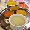 アグラ - 料理写真:カレー3種とスープ・焼きそば