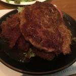 洋食の店 もなみ - Cセット(¥1450):ハンバーグ(120g)・チキンカツレツ(100g)