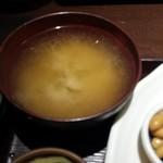 花様 NU茶屋町 - 料理写真:味噌汁