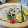 竹寿司 - 料理写真:トラフグ薄造り・・決して薄くは無い、むしろ厚かった(汗)