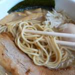 麺家 一鶴 - 鶏・煮干しらーめんの麺