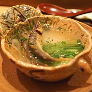 虎白 - 煮物 (稚鮎 蕪)