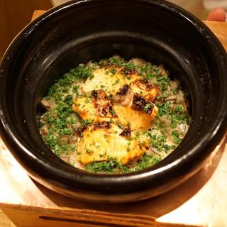 虎白 - お食事 (鱒の炊込みご飯)