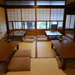 松粂 - 奥の座敷席