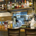 ブルックリンダイナー - 厨房前のカウンター