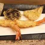 天ぷら懐石 いせ - 上天ぷら定食(海老 キス 椎茸)