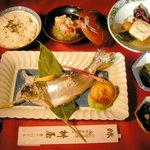 桝屋 味処 - ひめます御膳。希少価値の高い天然ひめます、赤身の味を語る魚では天下逸品です。