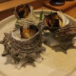 52220182 - さざえの壺焼き(一皿)