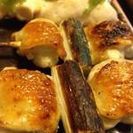 やきとり五つぼ - 料理写真:軍鶏肉 ネギ間