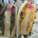 サンドイッチハウス メルヘン - パストラミサンドとカボチャサラダ