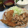 とんかつ三太 - 料理写真:豚の生姜焼きとヒレカツセット850円