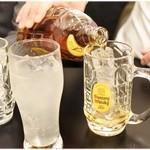 リトル成都 - トクトクトクーっと角瓶でセルフハイボール作りまくりんぐ。