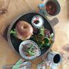 BAGEL CAFE SORARIN - 料理写真:ベーグルサンドランチ、地元野菜がたっぷり‼️ 大満足でした。
