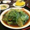 中国上海料理 豫園 - 料理写真:エビ入りレタスオイスターソース炒め