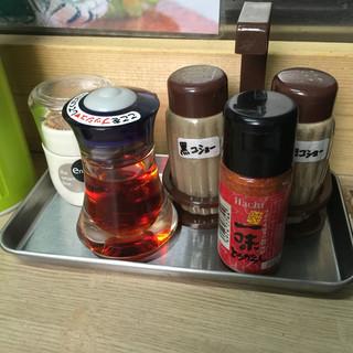 裏サブロン - 料理写真:卓上調味料