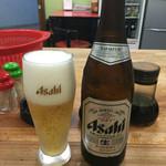 名物王寺ラーメン - 瓶ビール飲むでしょ?