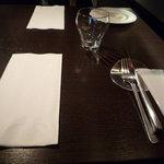 igrec - こちらがテーブルセット☆カトラリーも素敵です。