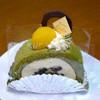 ODA - 料理写真:抹茶ロールが2週間前より豪華になっていた。
