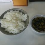 仙台とんこつラーメン 一番堂 - これで大好物の高菜飯を作成!(若干ラー油もたしました)^^