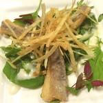手塚ryokan - 太刀魚がサクふわで今ディナーで1番好きだった〜 紫尾の露と津貫屋をロックで(*´ч`*) 温泉も気持ちいいし ちびっこにも親切でステキ