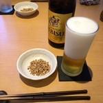 そば一仁 - ビール