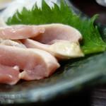 高城庵 - 鶏のさしみ(高城庵セット)