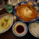 麺房大喜 - 料理写真:味噌ラーメンチーズトッピング+Bセット